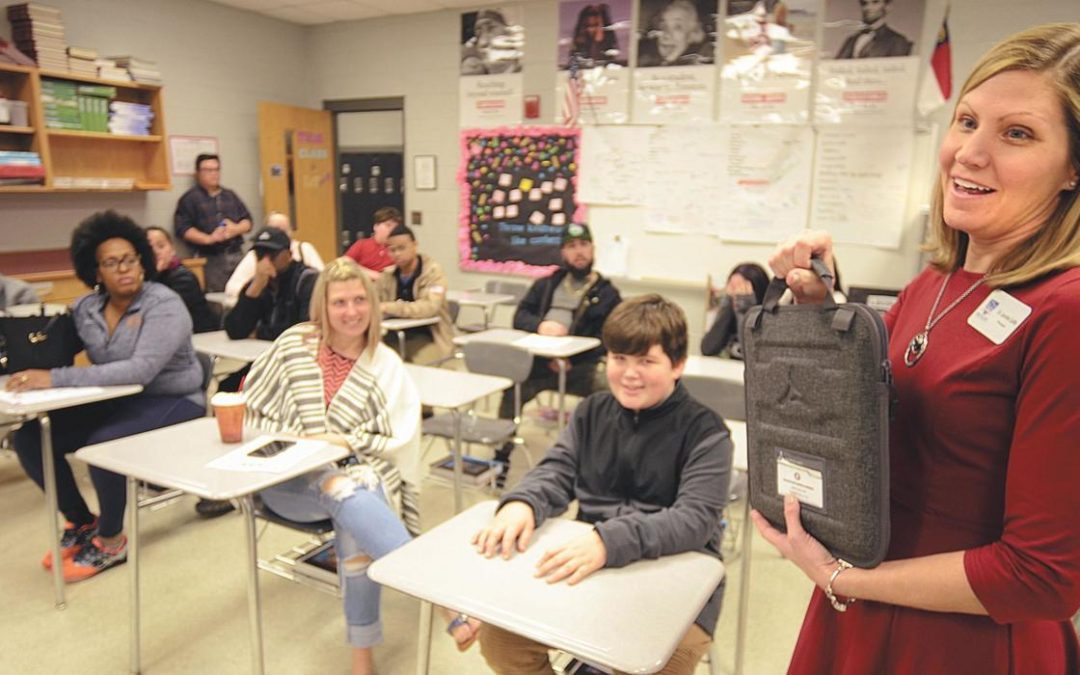 Hickory Daily Record: Connecting Students: K-64 helps middle schools close digital gap with Chromebooks